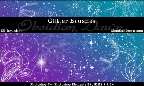 Glitter Sparkles Brushes