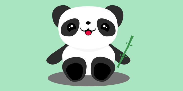 Crea un oso panda en Illustrator  IlustraIdeas