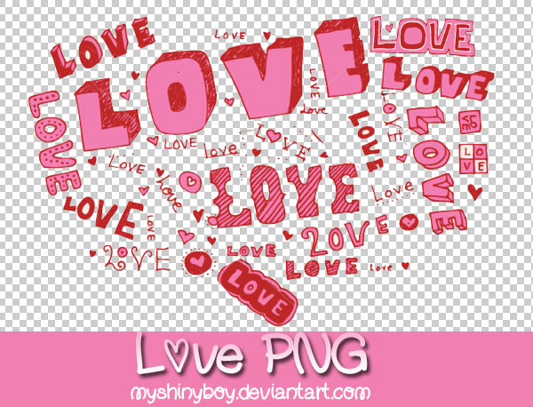 Love Text PNG