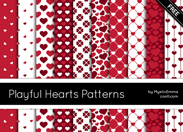 Playful Hearts Patterns