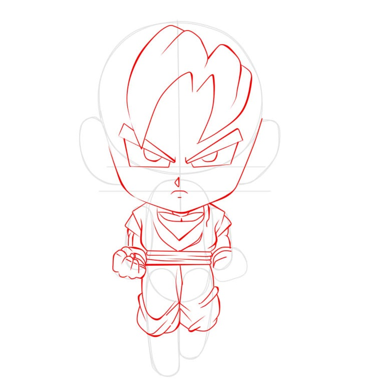 Dibujar a goku chibi paso a paso ilustraideas - Como hacer dibujos en la pared ...