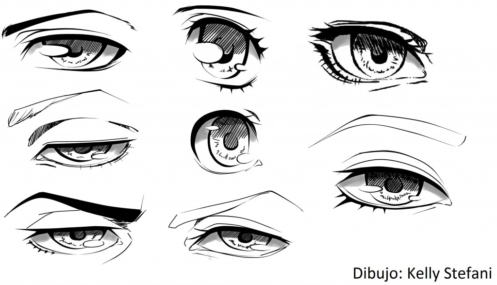 tipos de ojos anime