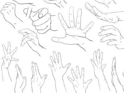 Como dibujar manos paso a paso  (manga)