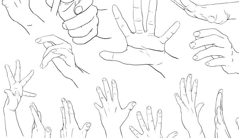 Como dibujar manos paso a paso manga  IlustraIdeas