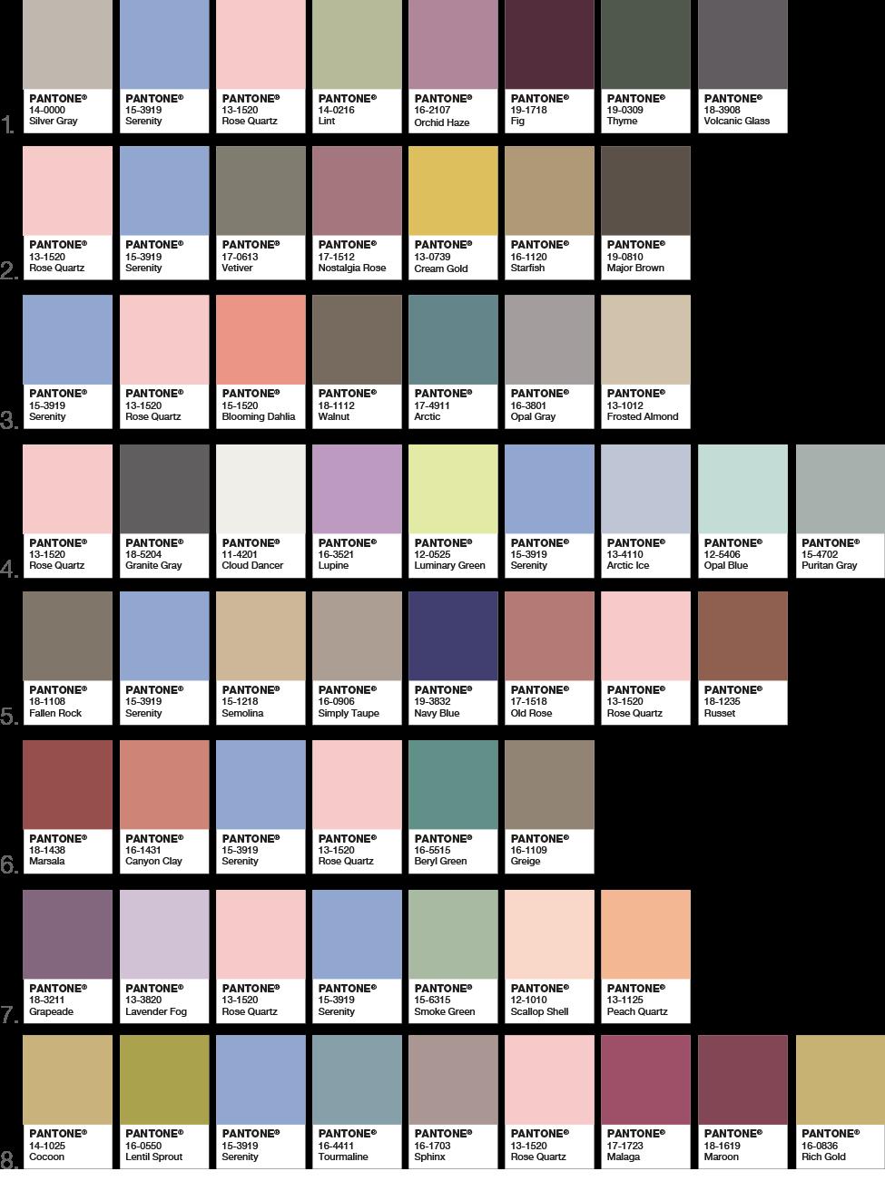 COY2016 Palettes