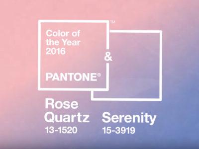 Pantone color del año 2016 Rose Quartz y Serenity