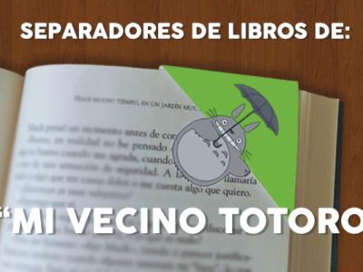 Separadores de libros: Mi Vecino Totoro