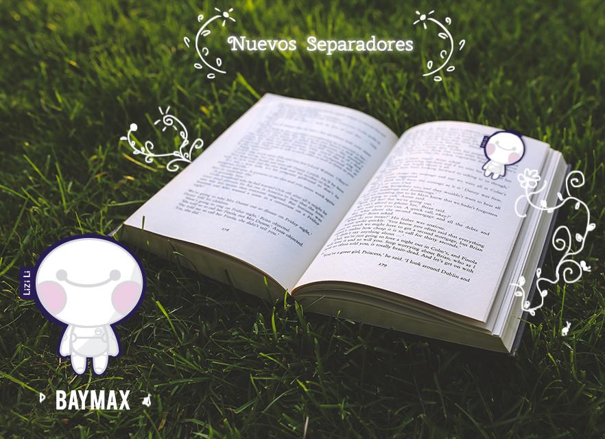 Separadores de libros de Baymax, Rilakkuma y Pusheen