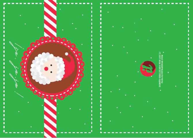 Tarjetas navideñas imprimibles