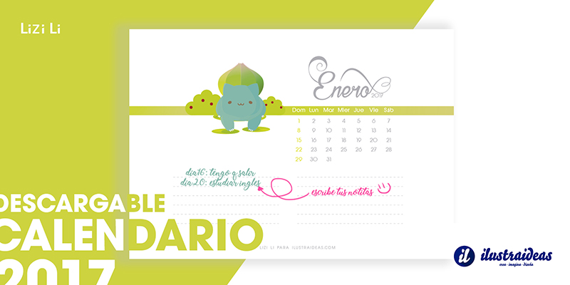 Calendario Pokémon