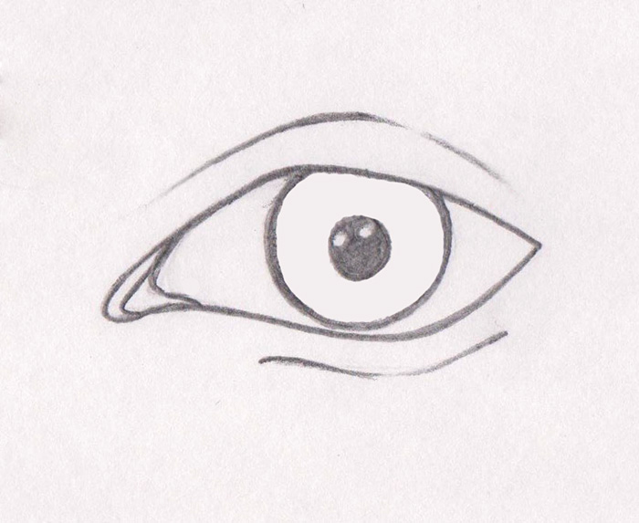 Dibujando ojos de personas animadas