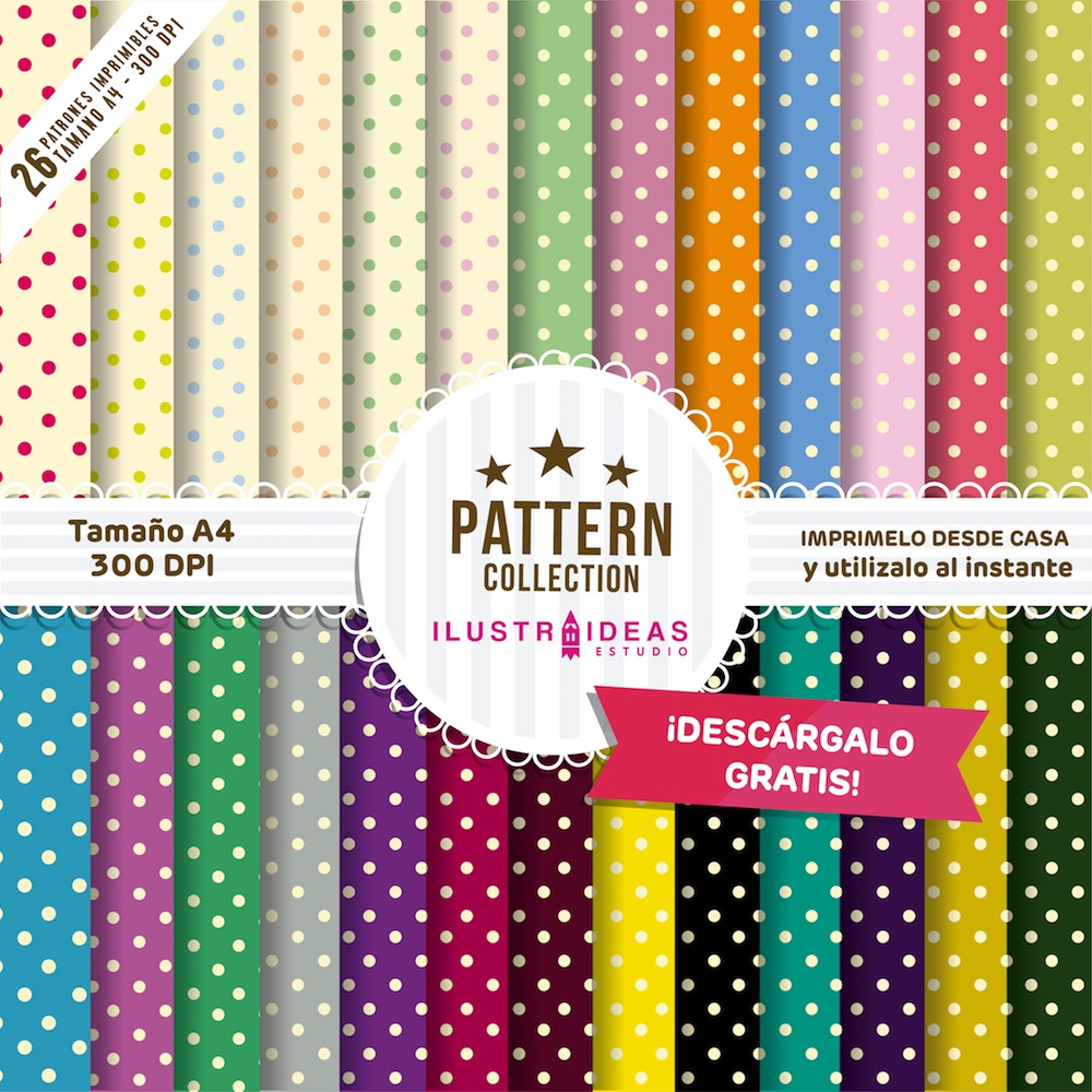 Pattern Collection imprimibles, hojas con patrones imprimibles
