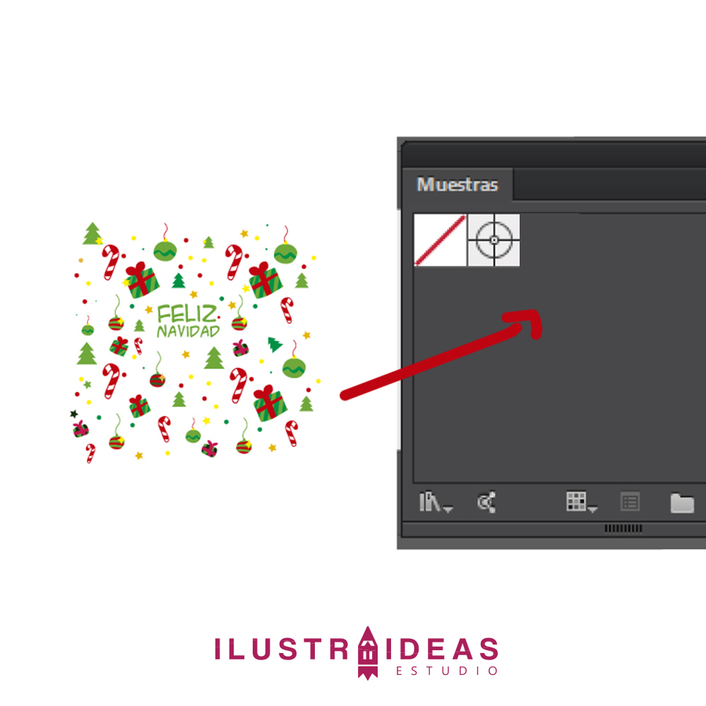 Crea tu propio papel decorativo navideño