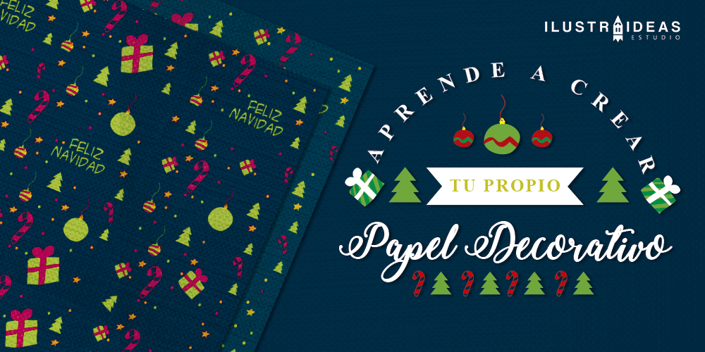 Crea tu propio papel decorativo navide o ilustraideas for Papel autoadhesivo decorativo