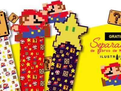 Separadores de libros de Mario Bros