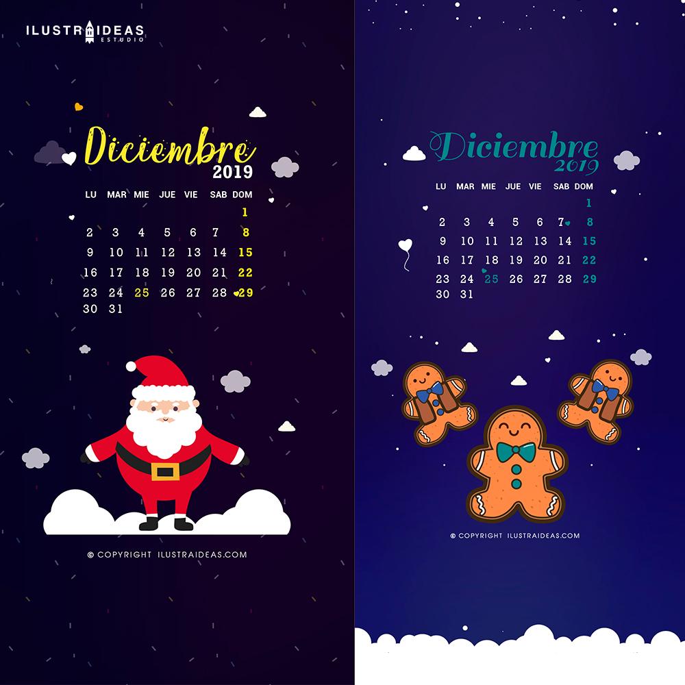 Calendario diciembre 2019 - Descarga