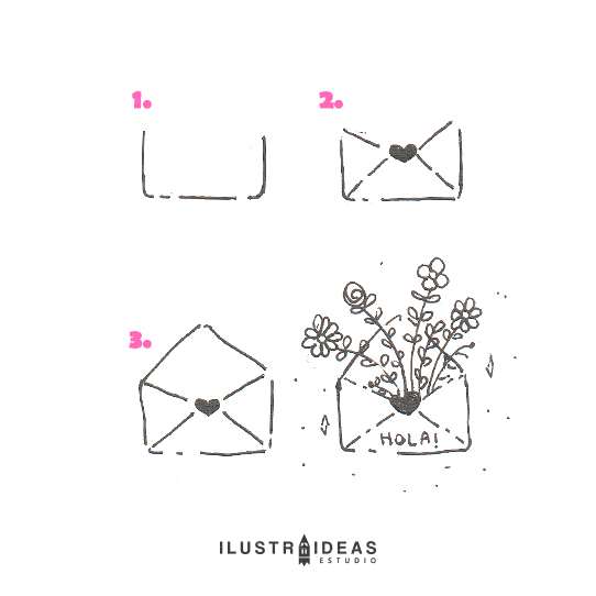 8 dibujos fáciles para principiantes_carta_flowers
