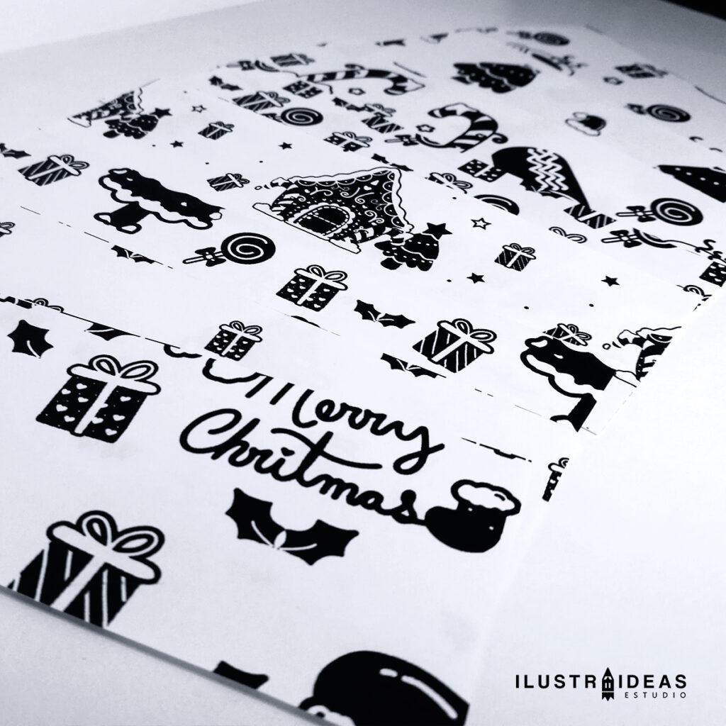 Papeles deco navideños