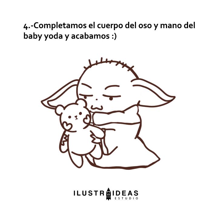 baby yoda y oso de peluche