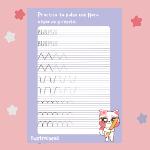Ejercicio Caligrafía Infantil N°1 Archivo PDF Imprimible