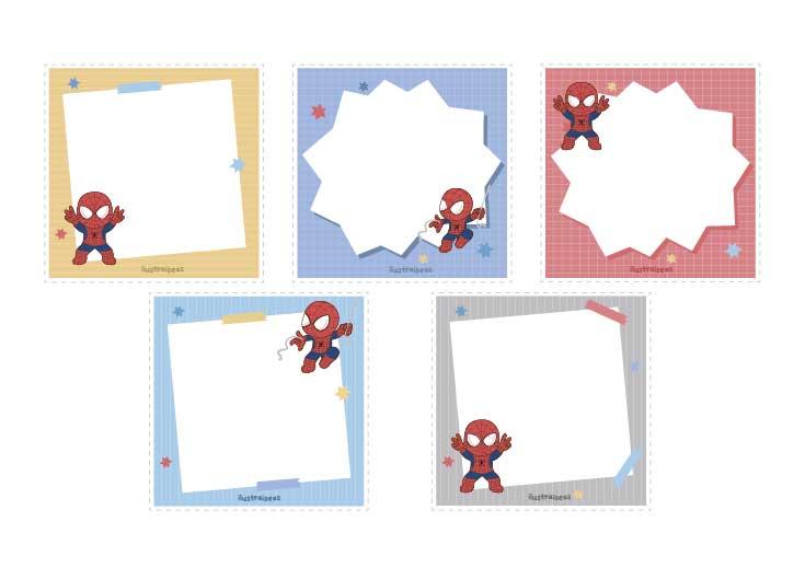 Memopads de Spiderman N°1 Archivo PDF Imprimible